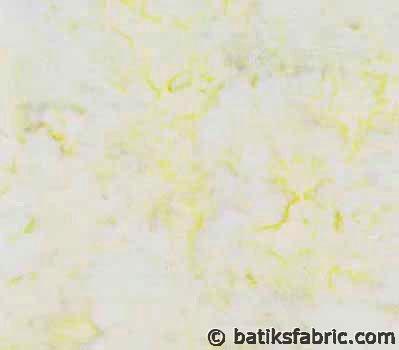 Cheap Batik Fabric : Yellow and Light Blue Color