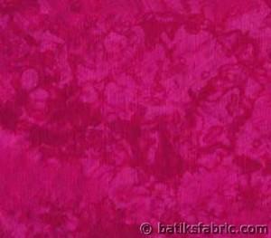 100% Cotton Dark Pink Batik Quilt Fabric