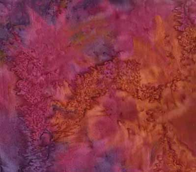 Purple-Blue-Brown Batik Fabric