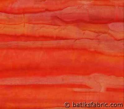 Striped Batik Fabrics with Orange Color