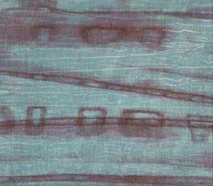 Light Slate Gray on Striped Batik Fabric