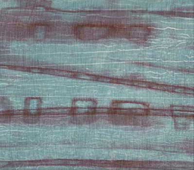 Light Slate Gray on Striped Batik Fabric