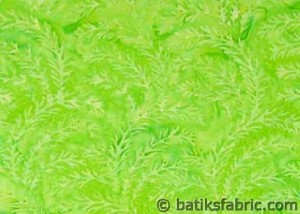 Green Grass Bali Batik Fabric
