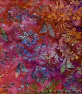 Chrysanthemums Hawaiian Batik Fabric