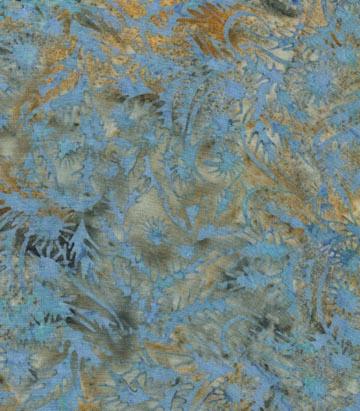 Blue Grass motif of Batik Cotton
