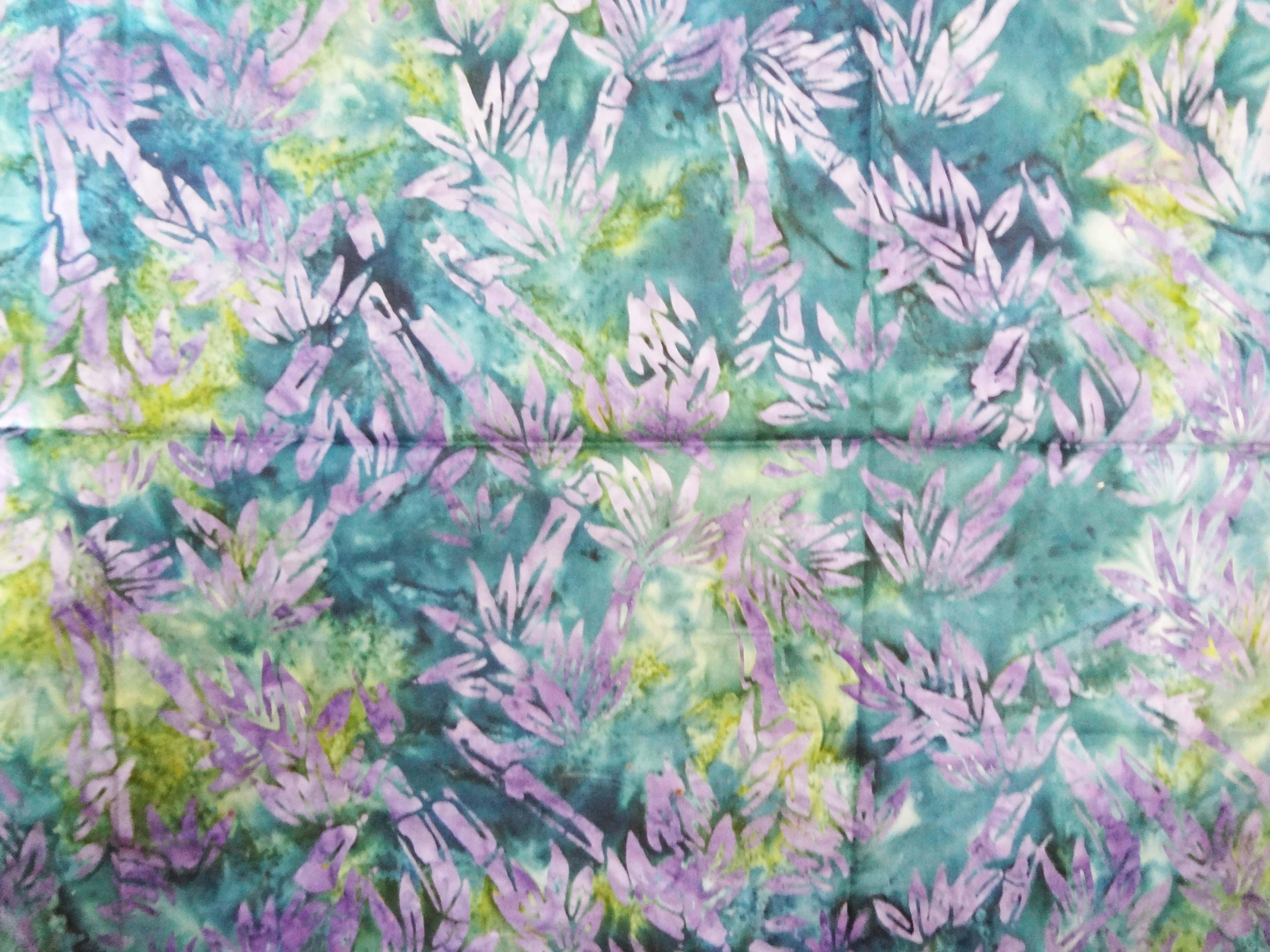 batik print fabric bamboo forest
