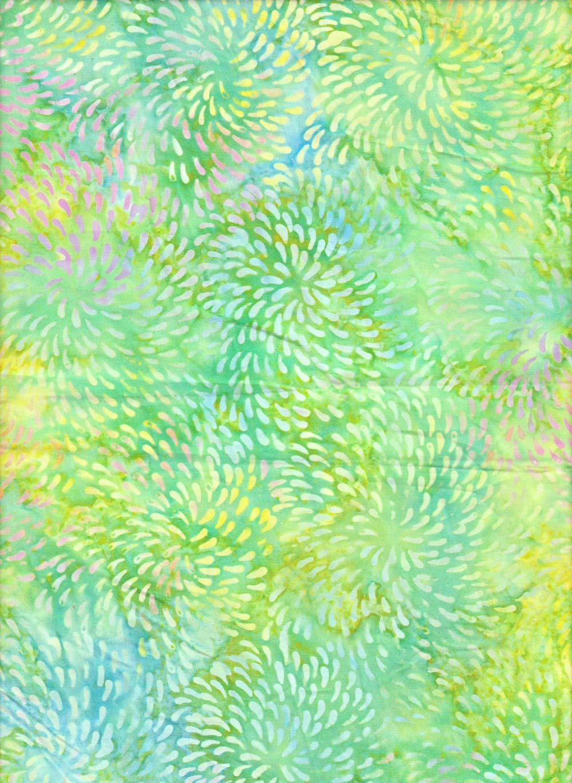 Dot Vortex on Unique Batik Fabric
