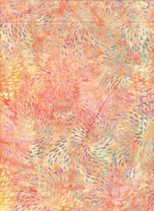 Dot Vortex Pink Yellow Batik Fabric