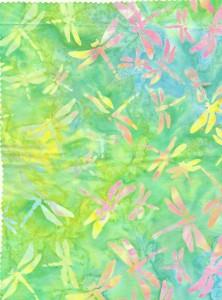 Green Yellow Dragonfly Batik