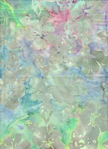 Metallic Hibiscus Bali Batik Fabric