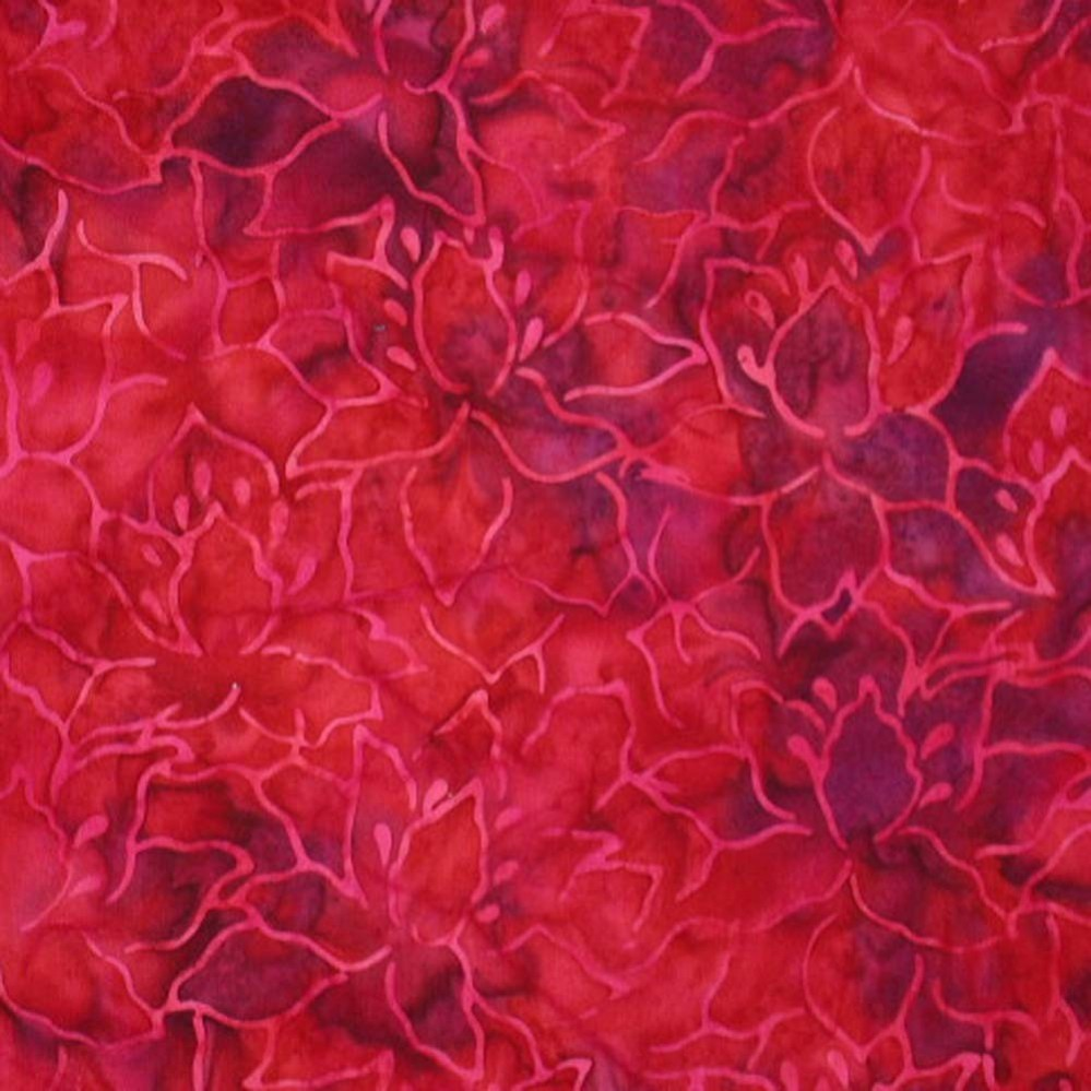 Lovely Rose Leaf Batik fabric